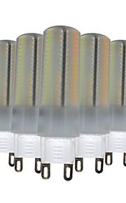 6W G9 LED-lamper med G-sokkel T 136 SMD 3014 500-600 lm Varm hvit Naturlig hvit Hvit Dimbar Dekorativ V 5 stk.