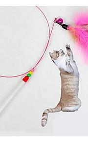 猫用おもちゃ ペット用おもちゃ インタラクティブ ティーザー 耐用的 プラスチック クロス ピンク