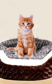 Gato Cachorro Camas Animais de Estimação Capachos e Alcochoadas Macio Café