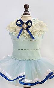 Собаки Платья Одежда для собак Лето Весна/осень Английский Милые Мода На каждый день Желтый Синий
