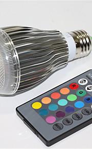 5W E27 LED-globepærer A60(A19) 1 Integrert LED 500 lm RGB Fjernstyrt Dekorativ Dimbar AC 85-265 V 1 stk.