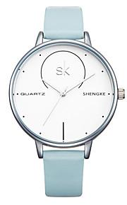 SK Mulheres Bracele Relógio Japanês Quartzo Impermeável Resistente ao Choque PU Banda Pendente Casual Luxuoso Branco Azul Cinza Rosa