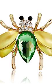 Dame Piger´ Brocher Dyredesign Mode Personaliseret Euro-Amerikansk Rhinsten Legering Dyreformet Smykker ForBryllup Fest Speciel Lejlighed