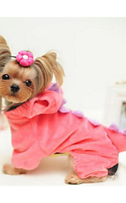 Hunde Mäntel Hundekleidung Niedlich Modisch Farbblock Grün Rosa