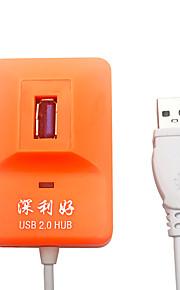 X-leo 4 porte højhastigheds USB 2.0 hub ultra slank