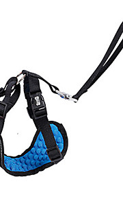 하니스 강아지용 자동차 시트 하네스 /강아지 안전 하네스 조절 가능/리트랙터블 훈련 달리기 통기성 안전 솔리드 패브릭 블랙