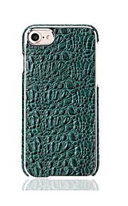 Für Hüllen Cover Beschichtung Rückseitenabdeckung Hülle Einheitliche Farbe Hart Echtes Leder für Apple iPhone 7 plus iPhone 7