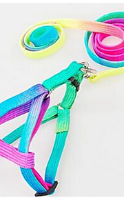 Collar Leash Safety Training Solid PU Leather Harness Pink Blue from five batch