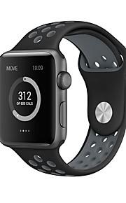 Äpple klocka silikon klocka med för äpple iwatch serie sport klocka bälte 38mm / 42mm