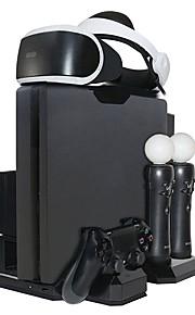 Multi Charging Station - Cooling Fan Cooler - PS VR Glasses Holder Bracket for PS VR Glasses/PS4/PS4 Slim/PS4 Pro/PS Move Controller