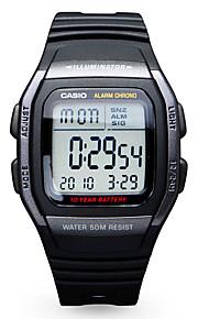 Casio Masculino Relógio Esportivo Relógio de Moda Relogio digital Japanês Digital Calendário Impermeável Borracha Banda Casual Preta