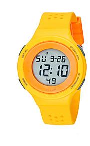 Masculino Relógio de Moda Digital Silicone Banda Preta Azul Vermelho Cinza Amarelo
