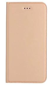 케이스 커버 용 카드 홀더 스탠드 플립 울트라 - 얇은 전신 케이스 단색 하드 PU 가죽 아이폰 7 플러스 7 6s 플러스 6 SE 5s 5