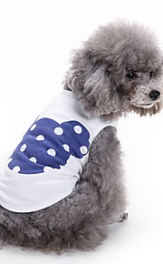 고양이 개 티셔츠 조끼 강아지 의류 여름 만화 귀여운 패션 캐쥬얼/데일리
