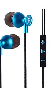 M10 Metal Ear Ear Stereo Earphone Game Headset Computer Headset Running Headset With Wheat Wire Control High Fidelity Monitor Headset