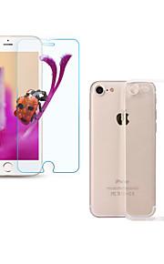 Härdat Glas Högupplöst (HD) 9 H-hårdhet 2,5 D böjd kant Ultratunnt Reptålig Displayskydd framsidaApple