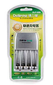 Carregador rápido da bateria de delipow apropriado para bateria recarregável niquel-metal e hidreto níquel-metal aa / aaa