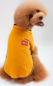 Gato Cachorro Camiseta Moletom Roupas para Cães Casual Sólido Cinzento Amarelo Verde