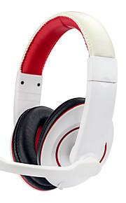 Soyto / sy722mv głębokie basowe słuchawki stereofoniczne surround nad uchem słuchawkowym 3.5mmusb słuchawki z mikrofonem led light dla pc