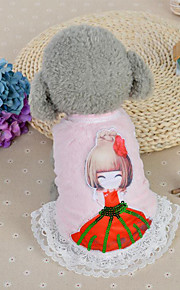 Dog Dress Dog Clothes Casual/Daily Fashion Princess Blushing Pink Blue