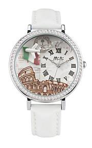 Жен. Модные часы Кварцевый Цифровой Защита от влаги PU Группа Белый