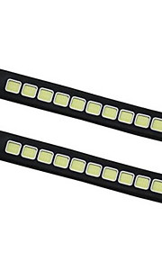 2pcs Check COB Bendable Led Daytime Running light 100% Waterproof COB Day time Lights flexible LED Car DRL Driving DC12V