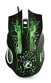 Nuevo ratón atado con alambre del juego 6 ratón de los ratones de la computadora ratón del usb del usb ratón óptico 2400dpi