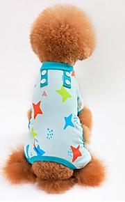 Gato Cachorro Camiseta Moletom Macacão Pijamas Calças Roupas para Cães Casual Estrelas Cinzento Azul Rosa claro