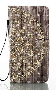 케이스 아이폰 7 플러스 7 카드 홀더 지갑 스탠드 플립 패턴 케이스 전신 케이스 3d 꽃 하드 pu 가죽 6s 플러스 6s 5 5s se