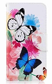 huawei p10 plus p10 lite 케이스 커버 카드 지갑 지갑 스탠드 플립 패턴 케이스 전신 케이스 나비 하드 pu 가죽