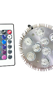 9W LED Par Lights 9w  High Power LED 450 lm with RGB Controller AC 85V-240V