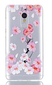 עבור xiaomi redmi הערה 4 מקרה כיסוי פרח דפוס מבריק צבוע מובלט tpu במקרה רך