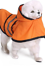 Cat Dog Rain Coat Dog Clothes Casual/Daily Waterproof Solid Blue Orange