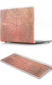 For MacBook Air 11 13 Pro Retina 13 15 Macbook 12 Case Cover PVC Material Oil Painting Wood Grain with US Silicone Keyboard Protector