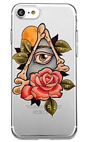 Für iphone 7 plus 7 Fallabdeckung umweltfreundliche transparente Musterblumen-rückseitige Abdeckungsfall-reizvolle Damekarikaturblume