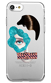 Voor iphone 7 plus 7 case cover transparante patroon achterkant hoesje sexy dame punk soft tpu voor iphone 6s plus 6 plus 6s 6 5s 5 se