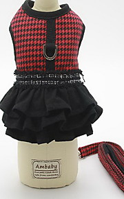 Harness Leash Adjustable Plaid/Check British Fabric