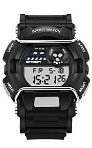 남성용 스포츠 시계 밀리터리 시계 스마트 시계 패션 시계 손목 시계 디지털 LED 달력 피트니스 트렉커 스톱워치 야광 실리콘 밴드 캐쥬얼 블랙