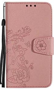 Case voor Sony Xperia xa1 case cover kaarthouder portemonnee flip reliëf patroon full body case bloem glitter shine hard pu leer