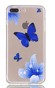 Voor iphone 7plus 7 tpu materiaal vlinder patroon reliëf telefoon case 6s plus 6plus 6s 6 se 5s 5
