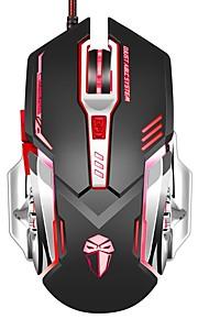 Gaming Maus 3200 dpi verdrahtet programmierbar 6 Tasten optische x5 Mäuse mit bunten Atmung geführt