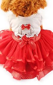 Gato Cachorro Vestidos Smoking Roupas para Cães Festa Casual Casamento Laço Amarelo Vermelho Verde