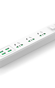 orico au 플러그 전화 USB 충전기 전원 스트립 150cm 3 콘센트 4 usb 포트 10a ac 100v-250v