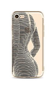Hoesje voor iphone 7 plus 7 hoesje transparant patroon achterhoes hoesje sexy dame zachte tpu voor iphone 6s plus 6 plus 6s 6 se 5s 5c 5