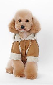 Hund Kapuzenshirts Hundekleidung Lässig/Alltäglich Britisch Kaffee Braun Rot