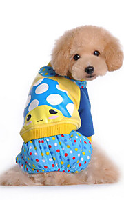 Hund Overall Hundekleidung Lässig/Alltäglich Kartoon Fuchsia Blau