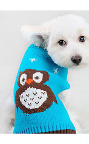 Dog Sweater Dog Clothes Casual/Daily Cartoon Blue Orange