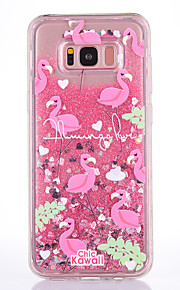 Case For Samsung Galaxy S8 S8 Plus Case Cover Flamingo Pattern TPU Material Full Soft Love Flash Powder Quicksand Phone Case For S7 S7 Edge
