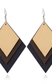 Women's Dangle Earrings Jewelry Geometric Euramerican Simple Style Wood Geometric Jewelry For Gift Casual Outdoor clothing
