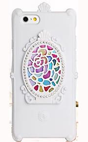 For Apple iPhone 7 pluss 7 tilfelle deksel med stativ speil mønster bakdeksel tilfelle blomst myk tpu 6s pluss 6 pluss 6 6s